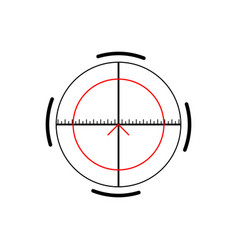 military crosshair rifle sight icon on white vector image
