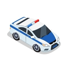 Police Car in Isometric Projection vector image