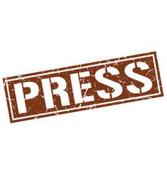 Press square grunge stamp vector
