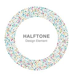 Rainbow Bright Celebration Holiday Circle Frame vector image