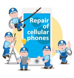 Repair cellular phones problem diagnosis vector