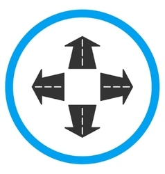 Road Directions Icon vector image