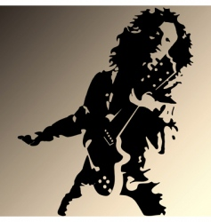 rock guitar player silhouette vector image