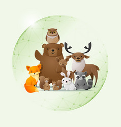 Save wild animal concept vector