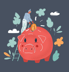 saving money young tiny vector image