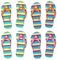 set of flip-flops vector image