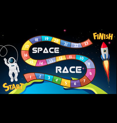 Space race board game background vector