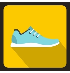 Sport sneakers icon flat style vector