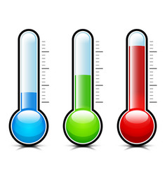 Temperature thermometer measurement icons vector