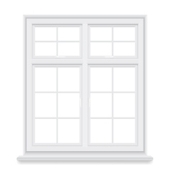 Traditional white window isolated vector