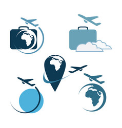 Travel logo set vector