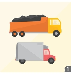 Trucks Transportation set 1 vector image