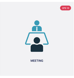 two color meeting icon from strategy concept vector image