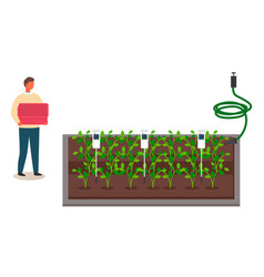 Urban farming gardening or agriculture automatic vector