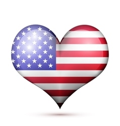 USA Heart flag icon vector