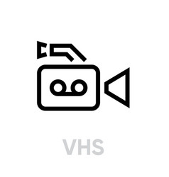 vhs line icon editable outline vector image