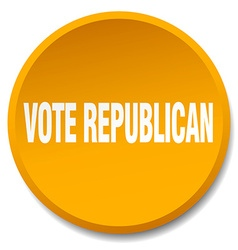 Vote republican orange round flat isolated push vector