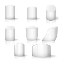 white realistic cylinder set vector image