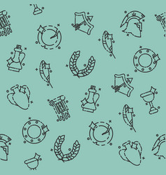 Ancient rome pattern vector