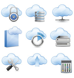 cloud hosting vector image vector image