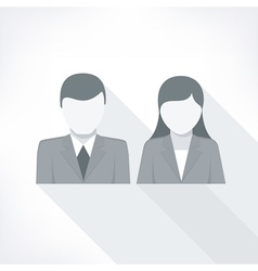 Human faces on white vector image