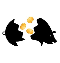 Money Saving bank break vector image