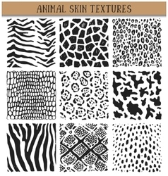 Set of nine hand drawn ink abstract textures vector image vector image