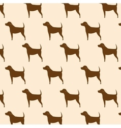 silhouette dog seamless pattern icon design vector image vector image
