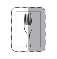 silhouette fork cutlery icon vector image vector image