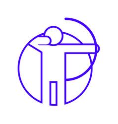 circle shape archery outline sport figure symbol vector image