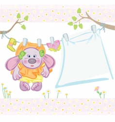 cute card for baby girl vector image