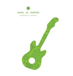 abstract green and white circles guitar music vector image