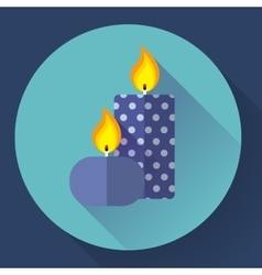 Candle icon - vector image vector image