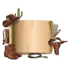 Cowboy Scroll vector image vector image