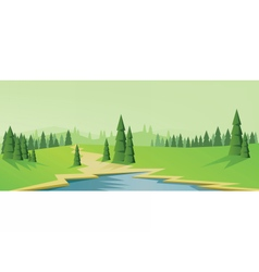 Digital abstract background with pines vector image