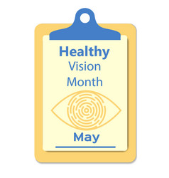 healthy vision awareness sign vector image