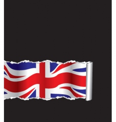 ripped paper flag vector image vector image