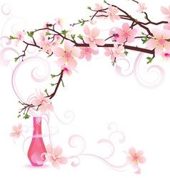 sakura parfume vector image vector image