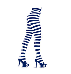 woman in leggings with stripes vector image vector image