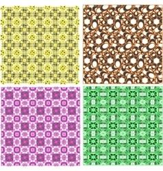 art set of damask patterns vector image