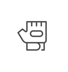 fitness glove line icon vector image vector image