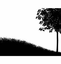 grass and tree vector image vector image