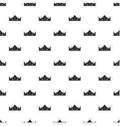 royal crown pattern vector image vector image