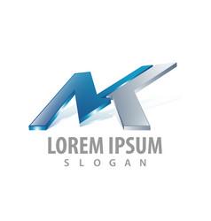 3d initial letter mk logo concept design symbol vector image