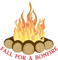 A bonfire vector
