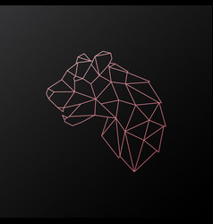 abstract geometric pink panther vector image