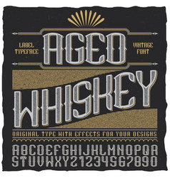Aged whiskey vintage label poster vector