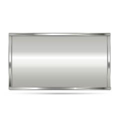 aluminum frame with rectangle shape vector image