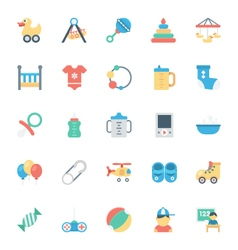 Baand kids colored icons 2 vector