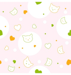 Baby kitty Pattern vector